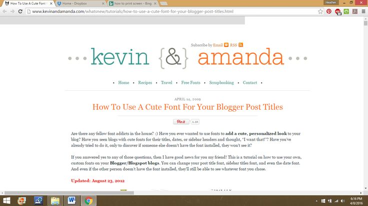 How to use a cute font for your blogger post titles kevin&amanda.com
