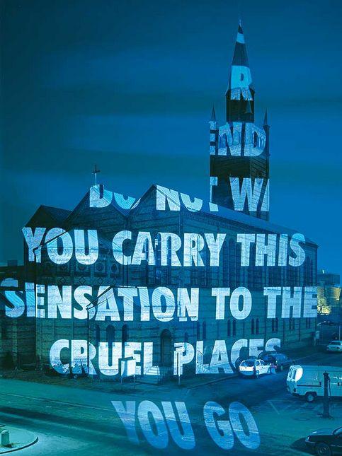 Jenny Holzer, Xenon for Berlin, 2001