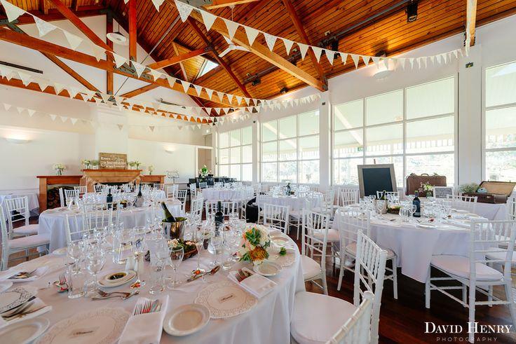 Inside the cricket pavillion wedding venue at Wandin Valley Estate, Hunter Valley | PHOTO CREDIT: David Henry Photography