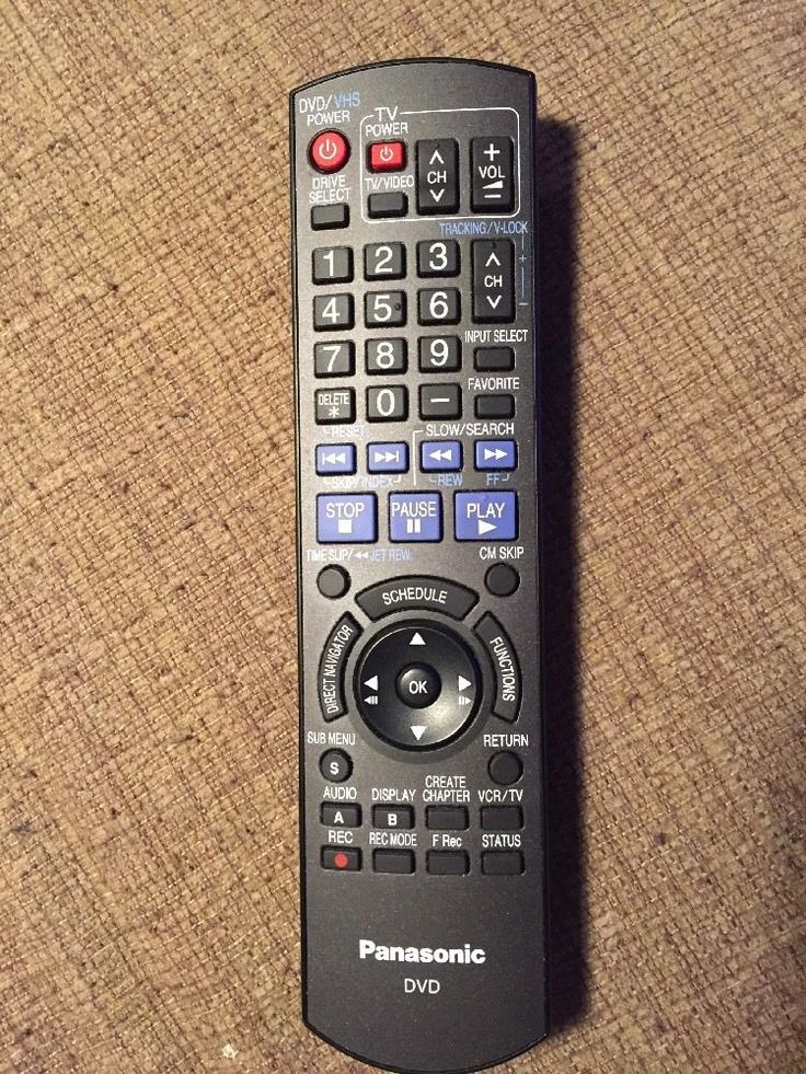 Panasonic N2QAYB000197 Remote Control For DMR-EZ48V DVD Recorder  | eBay