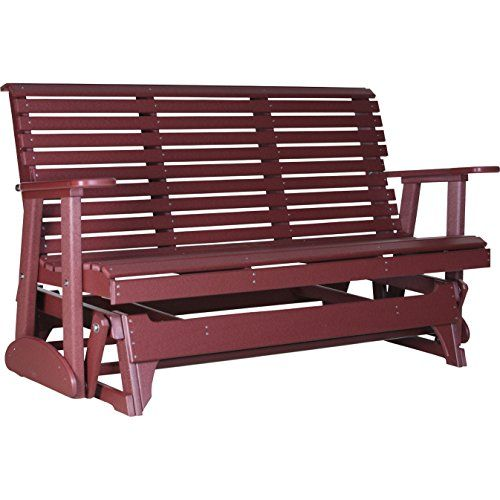 LuxCraft Rollback Recycled Plastic 5ft. Patio Glider LuxC... $700