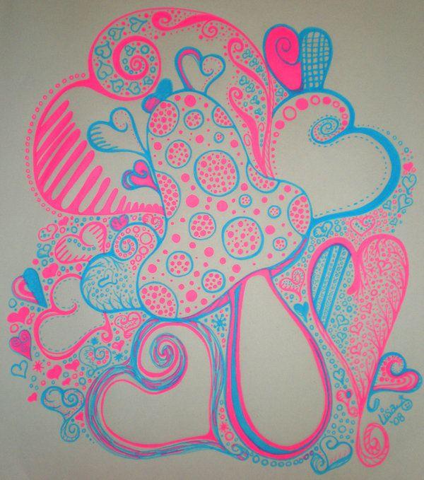 mushroom neon doodle easy doodles pen deviantart drawing mushrooms gel simple