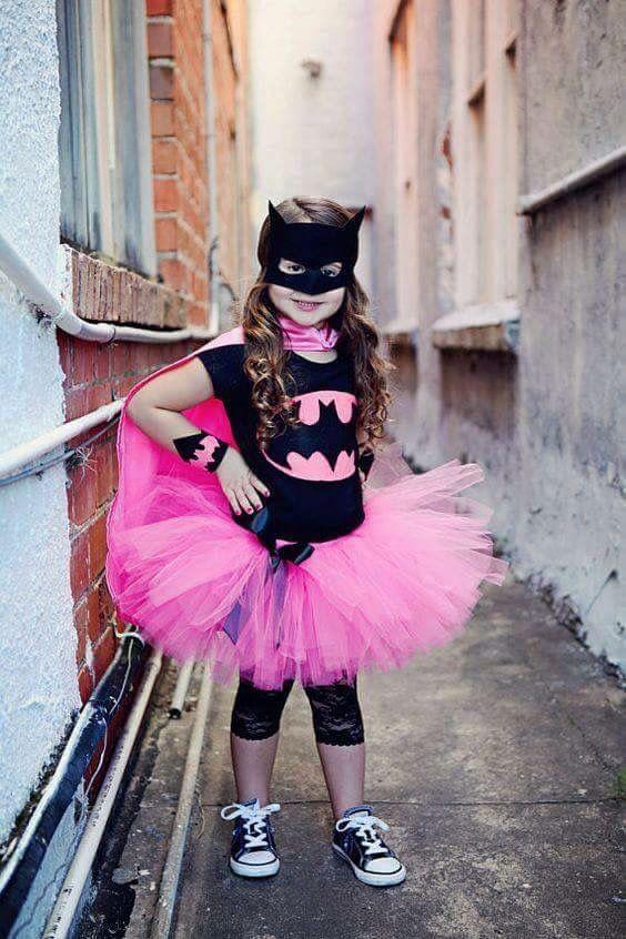 Batman costume pink girl