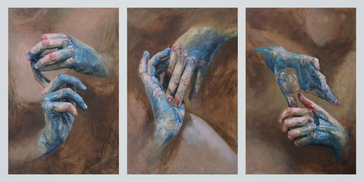 """""""C.M. VIII"""" 2013  Oil on Canvas Triptych  30x60in"""