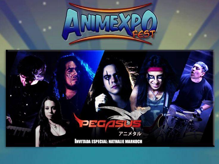 Estaré cantando canciones de Anime versión metal junto a PEGASUS este sábado 19 en el AnimExpoFest II.   I´ll be singing a couple of metalized anime songs alongside the peruvian bandPEGASUS アニメタル…