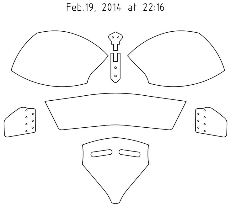paper knight helmet template - bascinet pattern how a man shalle be armed pinterest