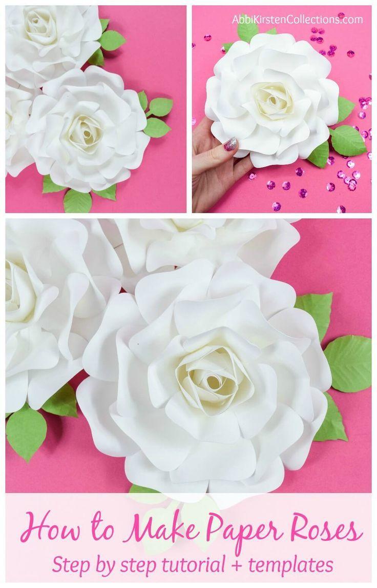 Diy Paper Rose Tutorial How To Make Small Paper Roses Paper