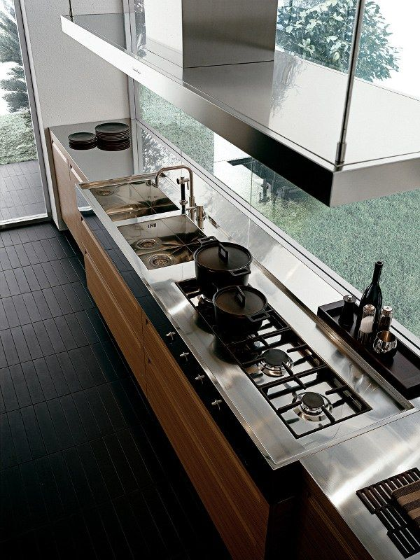 MINIMALOak fitted #kitchen by Varenna by Poliform @poliformvarenna  인테리어 ...