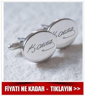 Atatürk imzalı kol düğmeleri