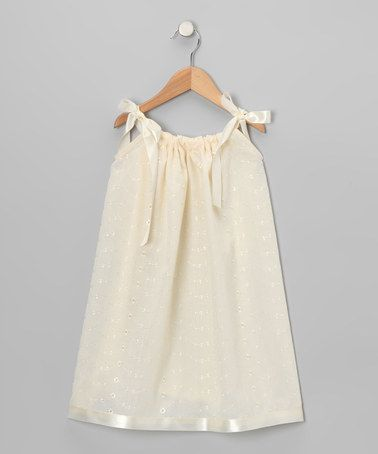 This Ivory Lace Swing Dress - Infant, Toddler & Girls by Cozy Bug is perfect! #zulilyfinds
