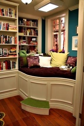 The Domestic Curator: MY PASSION: Reading Nooks For Cuddling Up With A Good Book