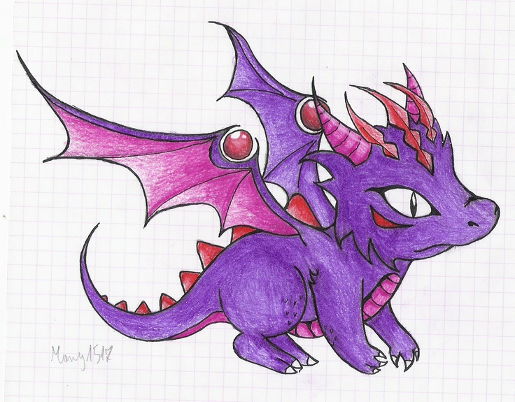 baby dragon drawing remember me to Spyro <3