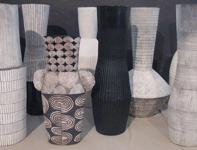 Large scale ceramics by Louise Gelderblom (from South Africa)