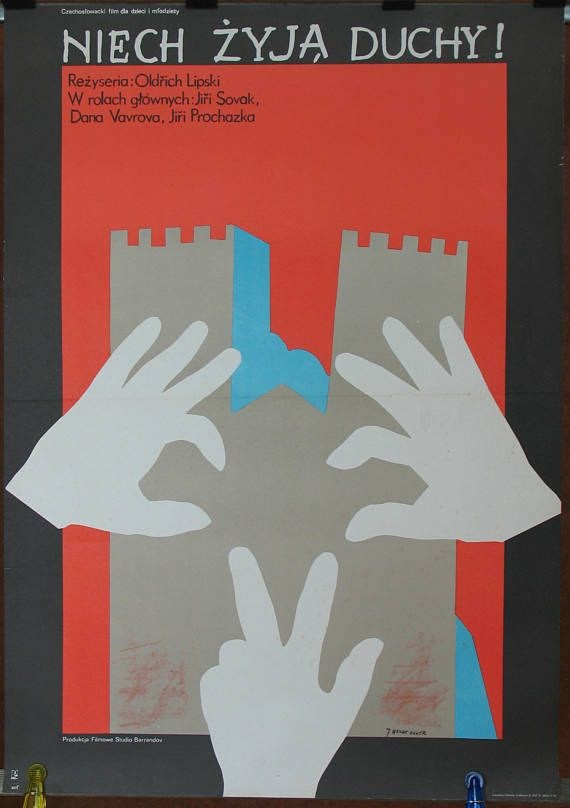 Poster. Czechoslovak film  Long Live Ghost by Oldrich