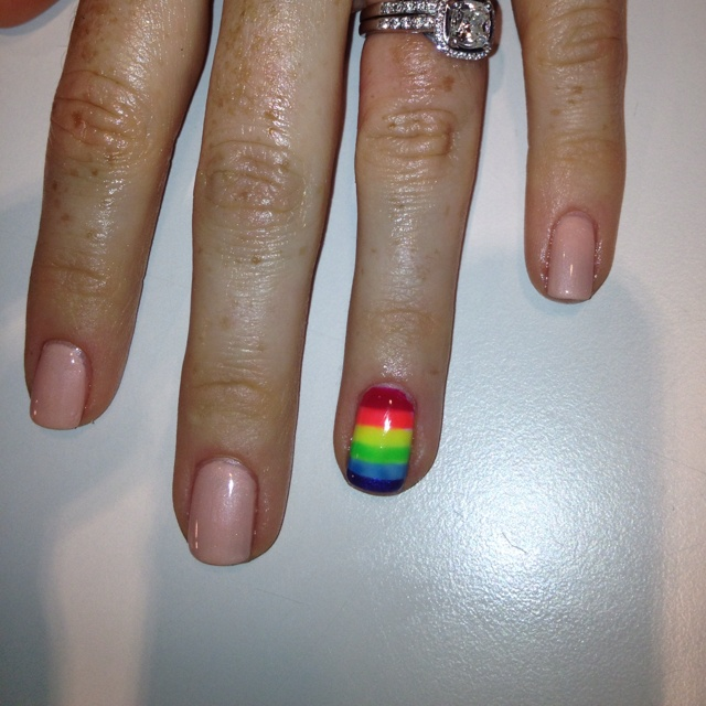 Rainbow nail by Erin at the nail lounge in costa mesaNails Lounges, Rainbow Nails, Rainbows Nails