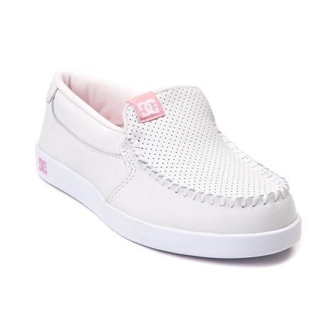 Shop For Womens Dc Villain Skate Shoe White Pink At