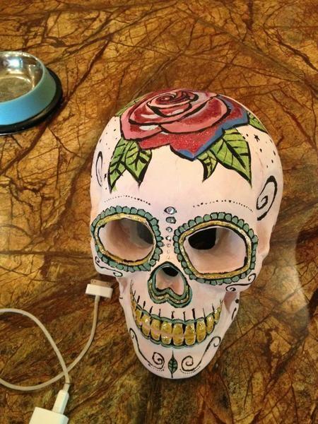 sugar skull ceramic thinking next time I might try to do ...