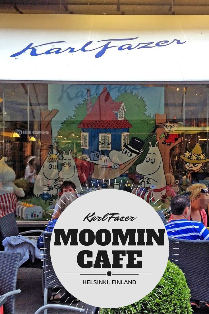 Finnish café Fazer collaborated with the Moomin characters for the Tove100 festivities in Summer 2014 to create a Moomin themed cafe in Helsinki, Finland, featuring Moomin desserts such as cupcakes and ice cream sundaes #cutetravels