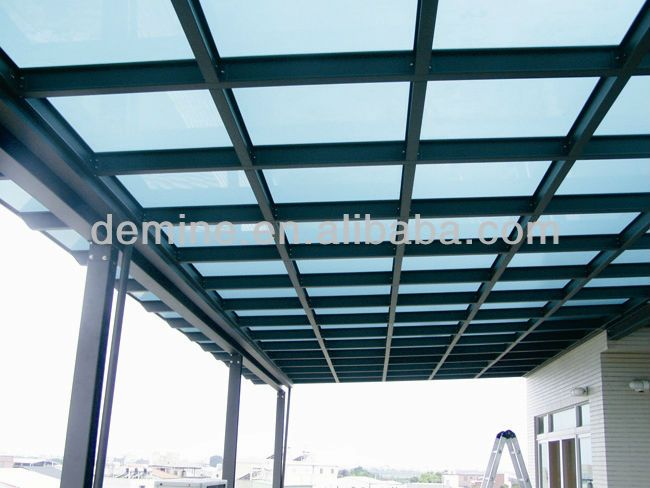 #Polycarbonate Canopy Sunroof Skylight/100% in makrolon or lexan virgin material, #polycarbonate daylight roof panels , #bicycle shed/cycle shelter
