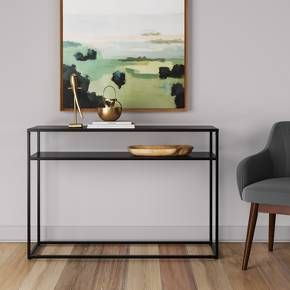 It doesn't get much more simple or modern than the Glasgow Collection from Project 62™. These no-frills metal tables are ideal for filling in tight spaces and displaying your most eye-catching valuables.