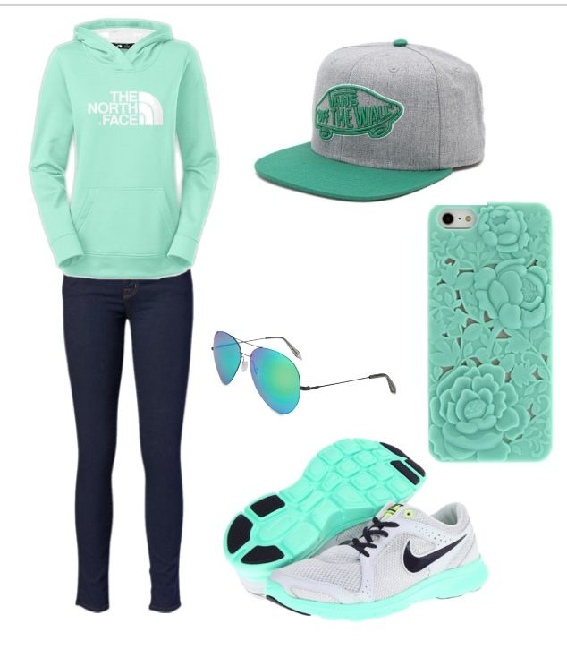For the love of mint!! ♥AReina Cute Sporty mint outfit!