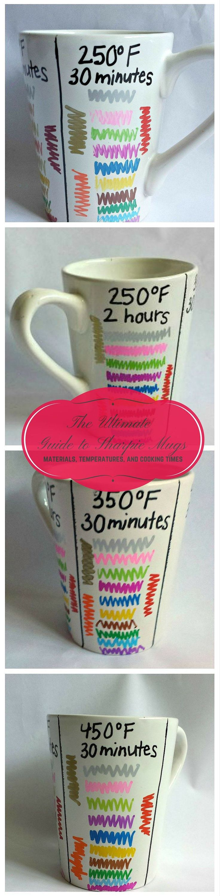 Best DIY Sharpie Mug: use oil-based Sharpies and bake @250 for 2 hrs for best, long-lasting results