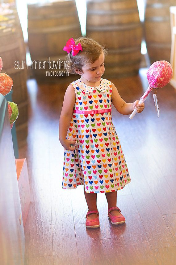 SWEET HEARTS dress with peter pan collar Available by valeriya, $36.00