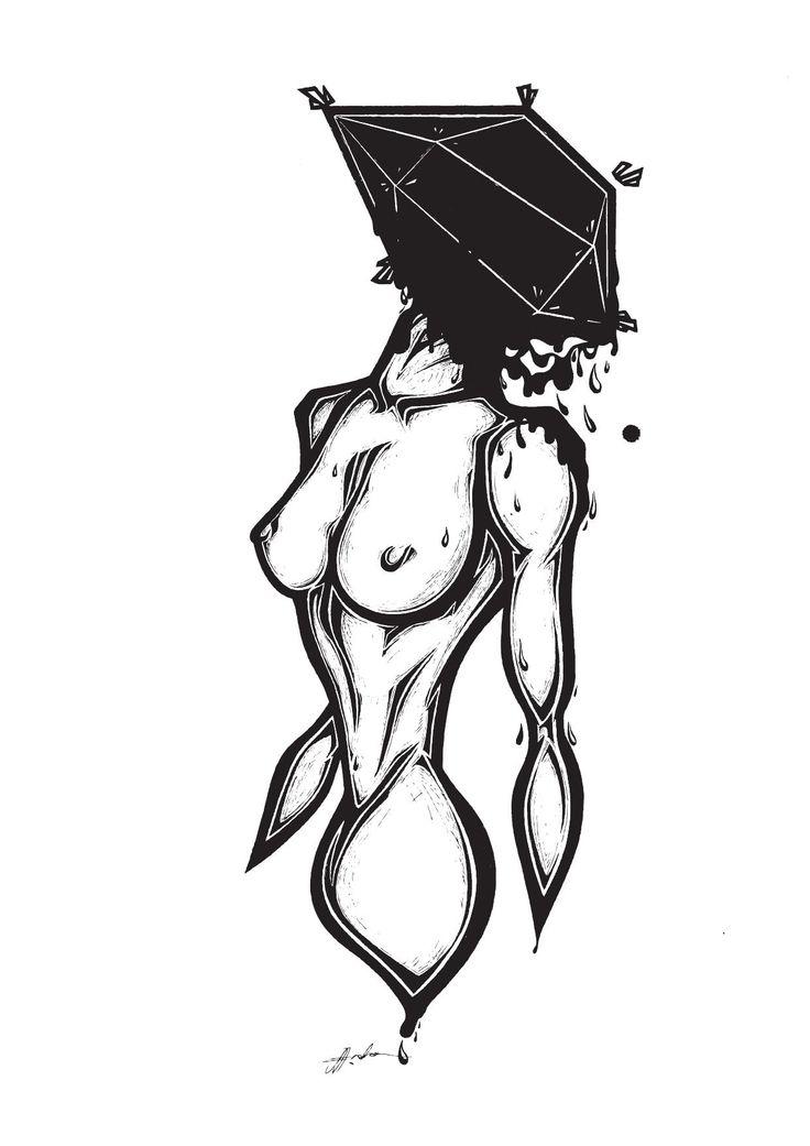 'Evoked' Illustration By Rachel J. Enoka