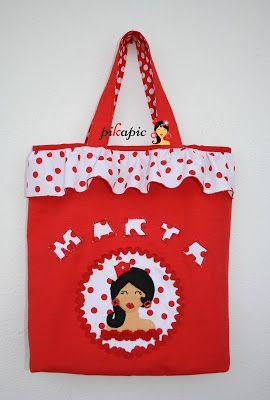 www.pikapic.es Bolso para clases de baile flamenco para niña
