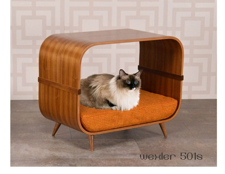 Wexler 501s mid century modern cat bed by cairudesign on Etsy https://www.etsy.com/ca/listing/484062086/wexler-501s-mid-century-modern-cat-bed