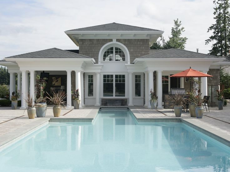1000 images about home plans on pinterest french for Pool houses and cabanas