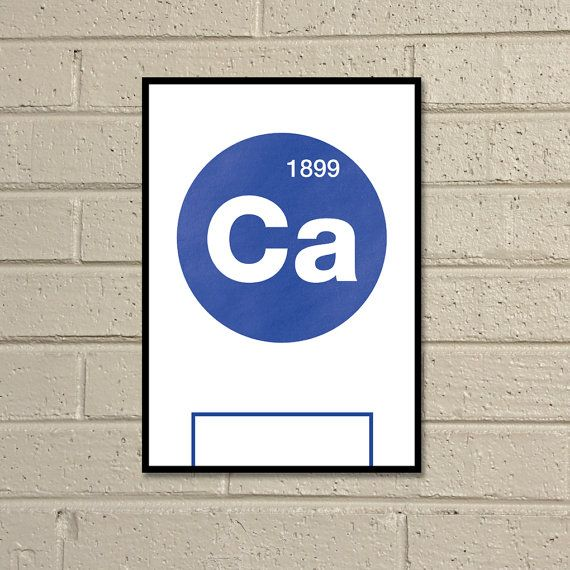 Essential Elements Cardiff A4 Football Print in blue by TommySauce, £9.50