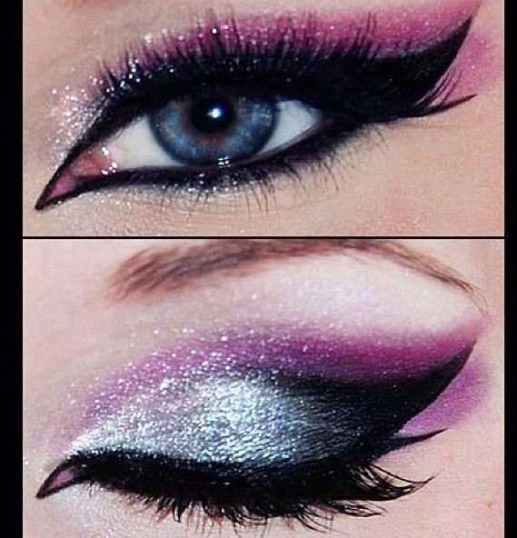 Fancy eye makeup