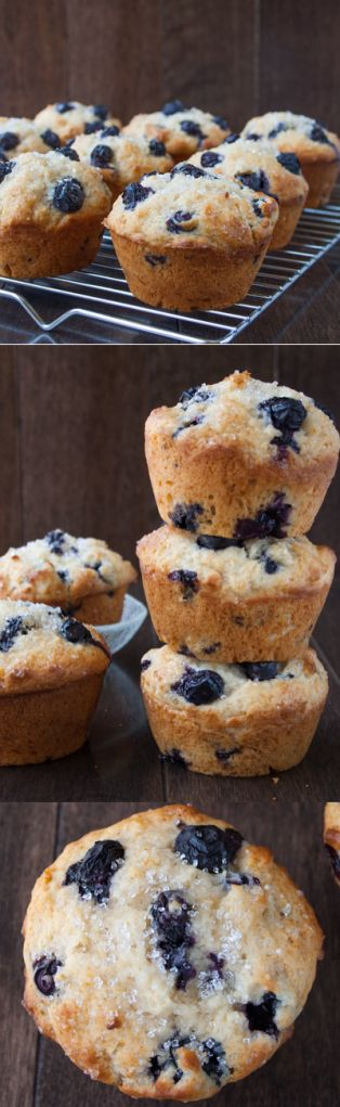 BLUEBERRY BUTTERMILK MUFFINS. A soft and moist muffin full of juicy blueberries and vanilla flavor. This is a quick a...