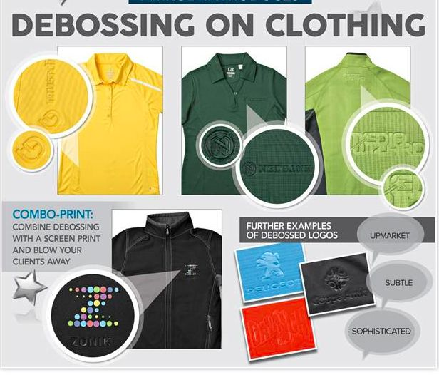 NEW - Debossing on clothing, now available
