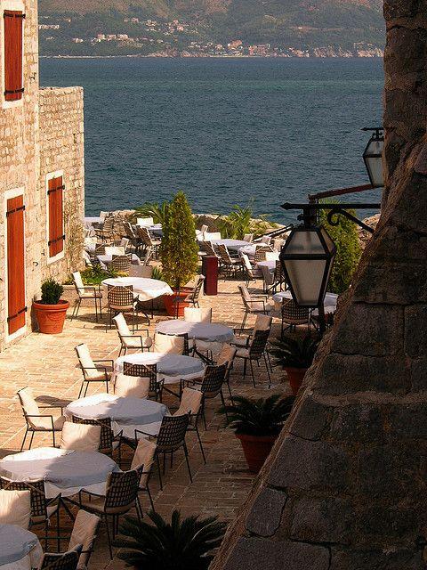 Budva, Montenegro outdoor cafe