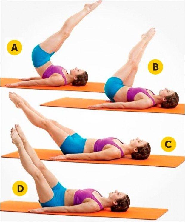Acompanhe a sua dieta com exercício físico e comece a ver resultados em apenas 30 dias. Recomendamos 5 exercício que envolve muitos músculos abdominais. Todas as manhãs pratique-os, desta forma, ativa o seu metabolismo e ajuda o seu corpo a eliminar a gordura. 1. Pernas Deite-se de costas sobre num tapete de exercícios com os