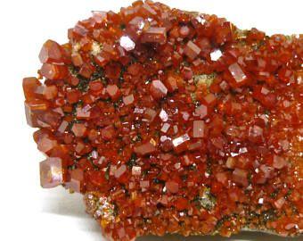 Vanadinite - Apache, Arizona, Stati Uniti d'America - cristalli naturali campione di minerale - eb3 C