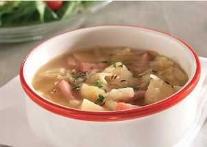 Ham, potato and cabbage... soups don't get more mouthwatering than this!  Make a yummy soup featuring a winning combo of flavors with this easy recipe.