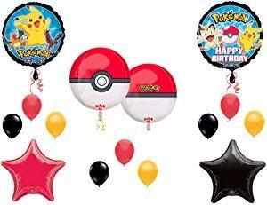 """Orbz"" POKEMON GO Birthday Party Balloons Decoration Supplies Pikachu Game"