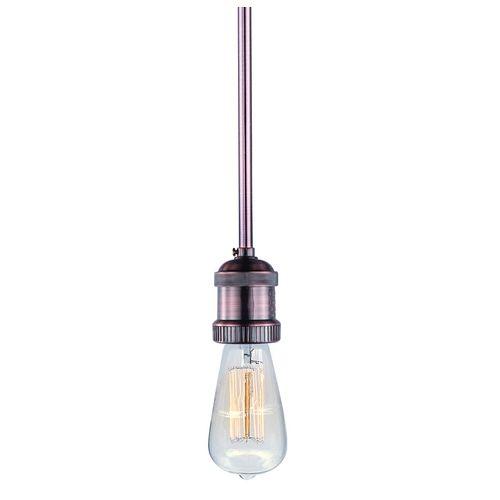 vintage copper bare bulb socket mini pendant light with light bulb. Black Bedroom Furniture Sets. Home Design Ideas