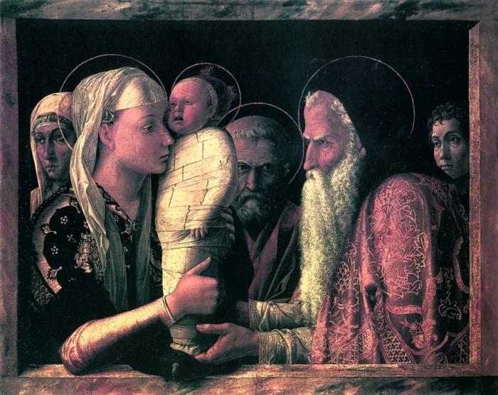 2005.05 // Ofiarowanie w świątyni, tempera na desce, ok.1465, Geamldegalerie, Berlin