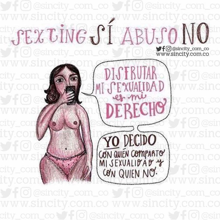 Si alguien difunde una fotografía tuya, denuncia. #clasesincity #sincity #sincitycolombia #educaciónsexual #vidasexualplena #vidaenpareja #sexologia #sexualidad #amor #sexting #abusono #abuso #derecho #misderechos