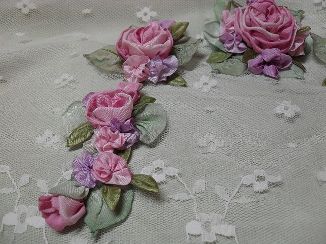 ribbon flowers ribbonwork