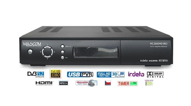 Máte doma starší satelitní komplet pro 1 televizor (TV) a plánujete zakoupení nového televizoru do další místnosti? Zkuste Rozšíření z 1 TV na 3 TV - Mascom MC 2600 IR CI Skylink - 2 družice
