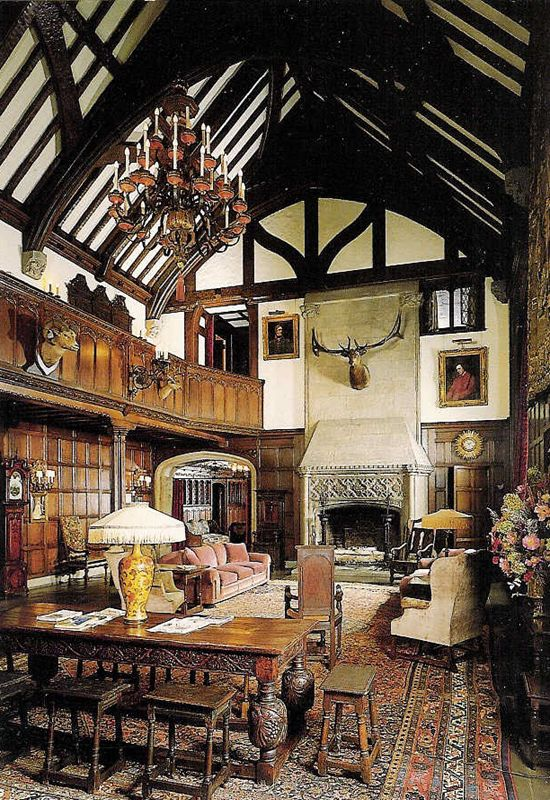 Stan Hywet Hall ~ Modeled After The Great Hall In Ockwells Manor, England,  This Three Story High Room Was The Gathering Place For Family, ...