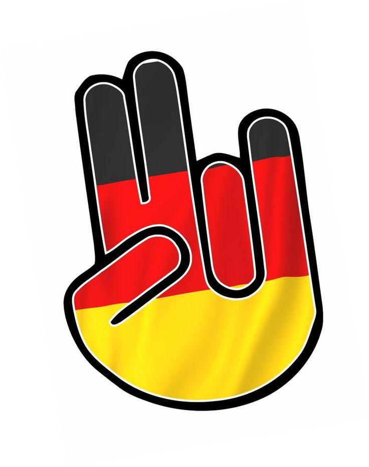 THE SHOCKER HAND German Germany Flag Vinyl Car Truck sticker decal JDM style #SticaritLtd