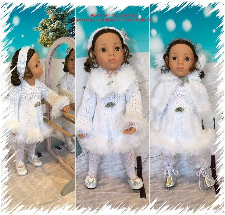 TRULYKNITTING:H/KNIT O/FIT+acc.COMPATIBLE WITH GOTZ:HANNAH:HAPPY KIDZ:18  DOLLS