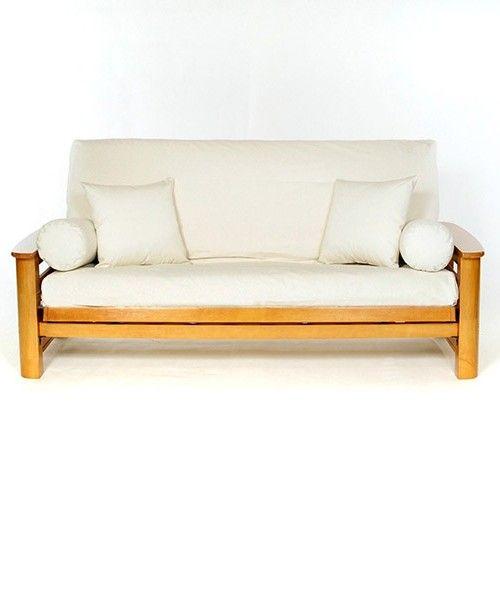 White twin futon cover