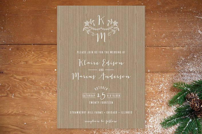 Woodland Initials Wedding Invitations by Lehan Veenker at minted.com